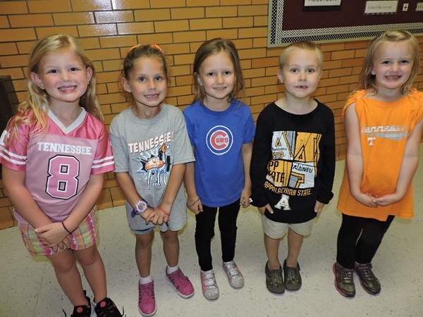 Our students show off their shirts on College Day!