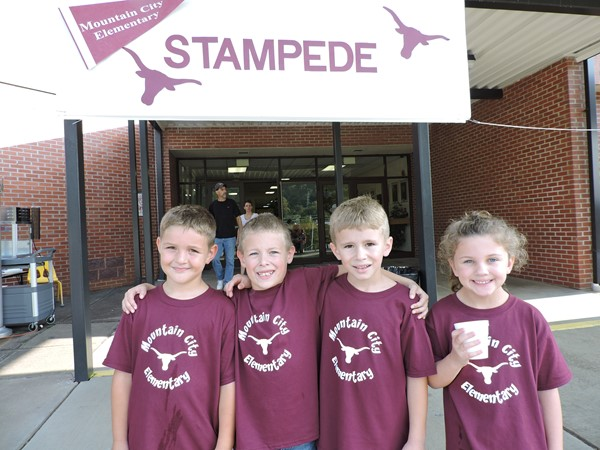 Students enjoy walking and treats during our annual Stampede.  This is our schools only fundraiser each year.